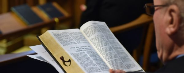 Gaelic Bible held open