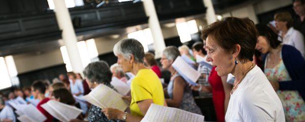 women singing in a choir