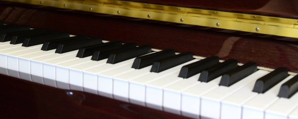 View of Piano Keys