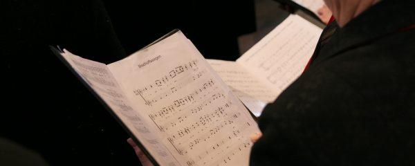 view of a choir book